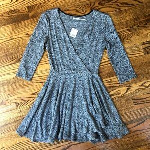 Kimchi Blue knit 3/4 length sleeve skater dress